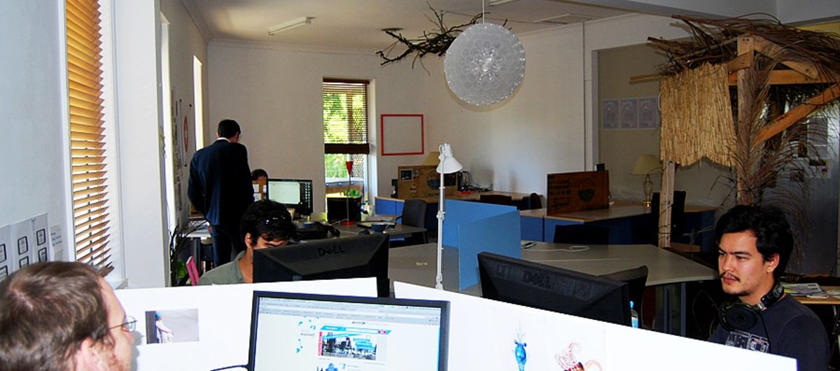 Thought Fort, a coworking space in Brisbane (Picture: Joel Dullroy)