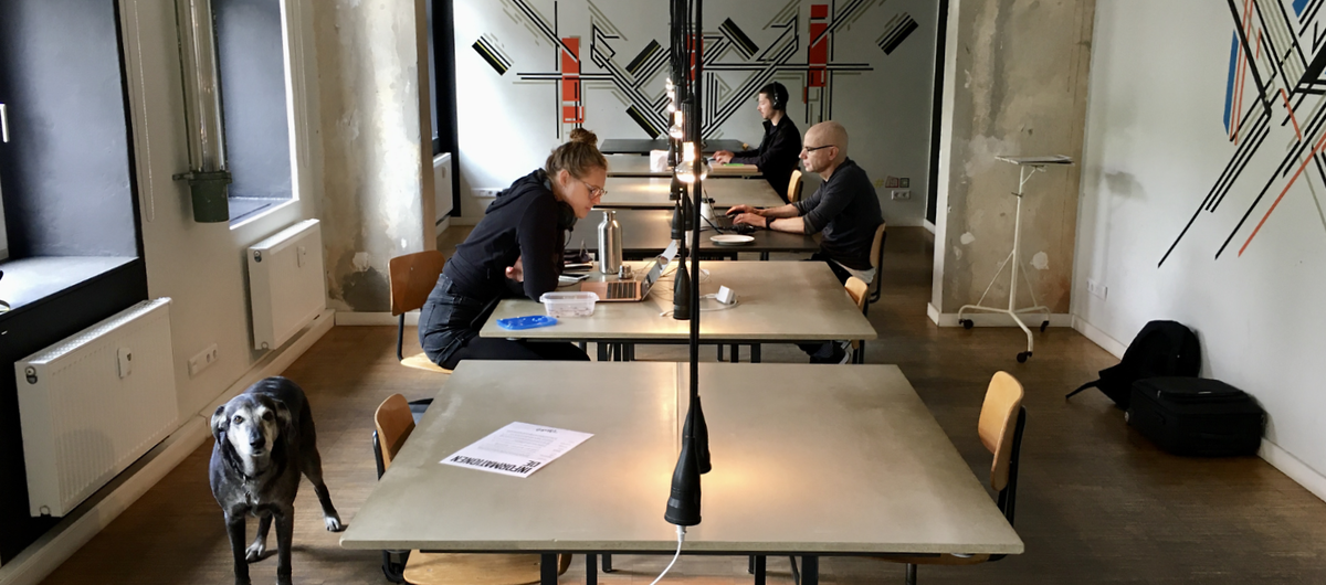 St. Oberholz: A coworking space in Berlin in May 2020.